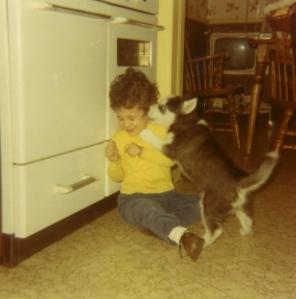 tanya and me, age 3